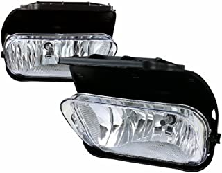 Fog Lights For Chevy Silverado 2003 2004 2005 2006 2007 All Models Avalanche 2002 2003 2004 2005 2006 Without Body Cladding (OE Style Clear Lens w/Blubs)