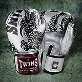 Twins special FBGV-4 - Guantes de boxeo para Muay Thai, color negro y plateado