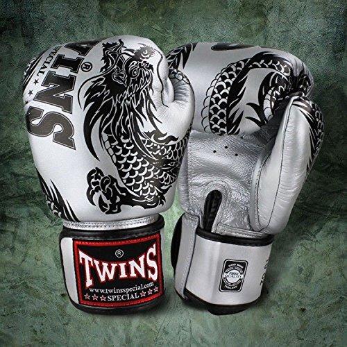 Twins special FBGV-4 - Guantes de boxeo para Muay Thai, color negro...