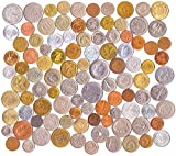 100 Different Foreign Coins Collection Money Set from All Over The Europe. Collectible Coins, Old Coins for Your Coin Album, Coin Bank or Coin Holders