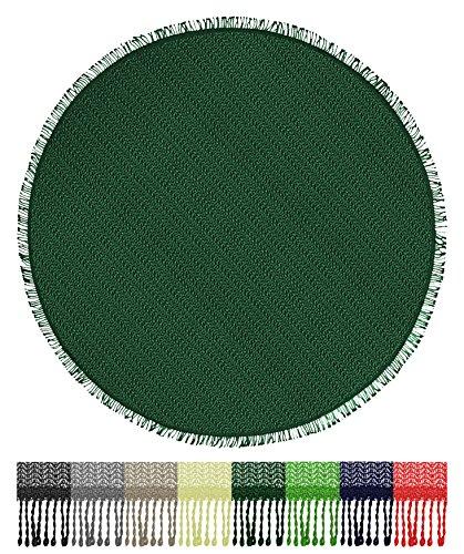 Brandseller tafelkleed voor tuin, balkon en camping, weerbestendig en antislip, rechthoekig: 110 x 140 cm, 130 x 160 cm, rond: 140 cm Rund 160 cm groen