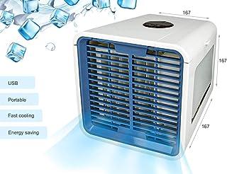LEDLUX ESE017 Mini Aire Acondicionado Ventiladores Portátil Climatizador Humidificador de Agua con USB Air Cooler Dispositivo de Enfriamiento