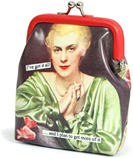 Anne Taintor Vinyl Kiss Lock Change Coin Purse - More Of It