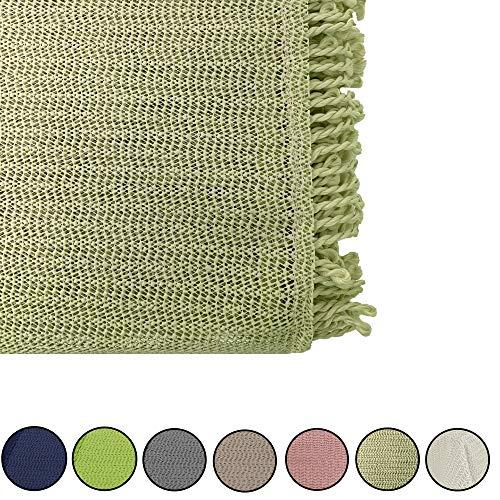 JEMIDI - Mantel para mesa de jardín resistente a la intemperie, redondo o rectangular, resistente a las inclemencias del tiempo, diámetro 140 cm, color verde