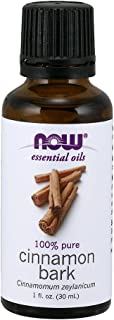 Now Essential Oils, Cinnamon Bark Oil, Warming Aromatherapy Scent, Steam Distilled, 100% Pure, Vegan, 1-Ounce