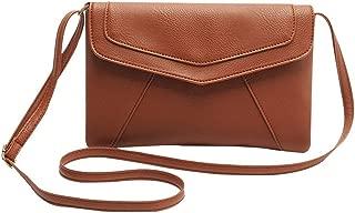 Kaimao PU 皮革信封手包斜挎单肩包适用于手机/钥匙/钱包 25 * 18 厘米/9.8 * 7.1 英寸(棕色)