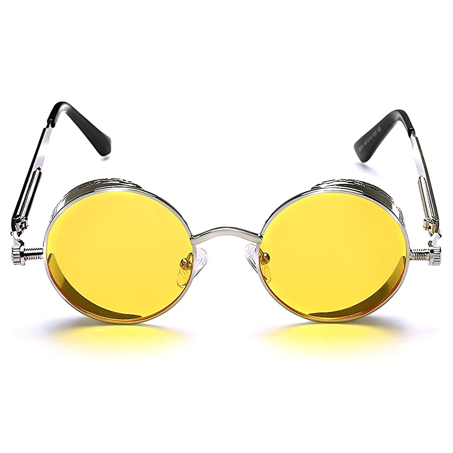 ROCKNIGHT Gothic Steampunk Polarized Sunglasses For Men Women UV Sunglasses Metal Full Frame