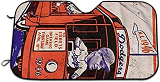 Oswz 1946 Brooklyn Dodgers Vintage Look Reproduction Windshield Sunshade for Car Foldable UV Ray Reflector Auto Front Window Sun Shade Visor Shield Cover, Keeps Vehicle Cool (51