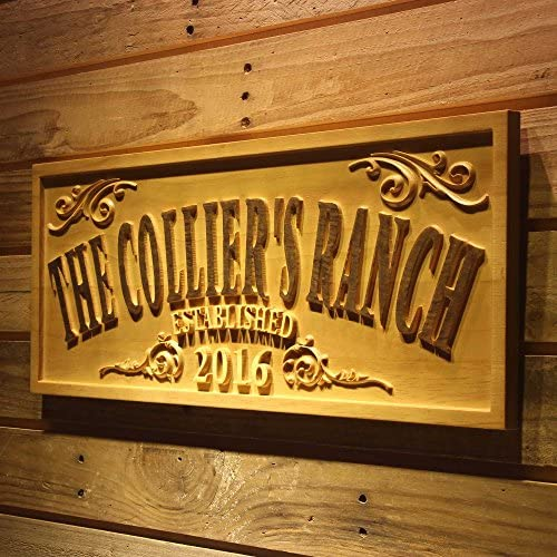 ADVPRO wpa0354 Name Personalized The Ranch Farm Decoration Established Year Gifts Wood Engraved product image