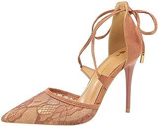 BalaMasa Womens ASL06546 Leather Heels