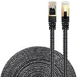 LANケーブル CAT7準拠 [Danyee®一年間保証] インターネットケーブル 結束マジックテープ付き 長さ1M 3M 5M 8M 10M 20M (3M, ブラック)