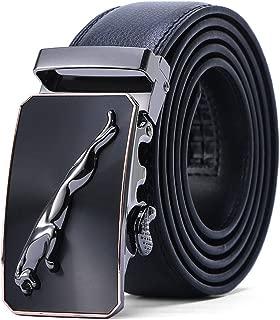 Men's Belt Jaguar Genuine Leather Dress Belt With Automatic Buckle, 35mm Wide
