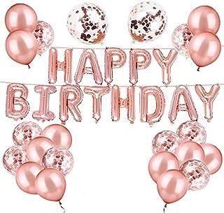 Ballon Anniversaire,Decoration anniversaire,kit anniversaire, banderole joyeux anniversaire,Ensemble de 31 pièces en or ro...