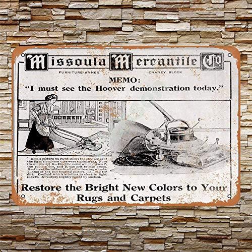 Henson 1912 Hoover Stofzuiger Traditionele Vintage Tin Teken Logo 12 * 8 Reclame Eye-Catching Wanddecoratie