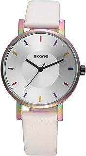 SKONE Fashion Luxury Quartz Couple Watches Water-Proof PU Leather Lovers Watch Men Women Casual Wristwatch