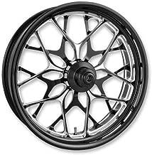 Performance Machine 12047106PGABMP One-Piece Aluminum Front Wheel (Dual Disc) - 21in. x 3.5in. - Galaxy Platinum Cut (21)