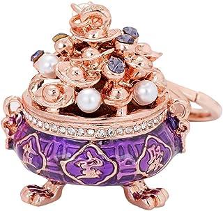 Fan-Ling Chinese Style Creative Cornucopia Car Key-Chain Bag Pendant Pendant Jinding Small Gift,Key Ring, Cell Phone Chain, Pendant Holder,Bag Pendant Car Accessory (Purple)