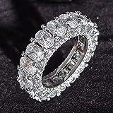 Anillo de eternidad de Plata de Ley 925 de Lujo para Mujer, Gran Regalo para el Amor de Las DamasLots Bulk Jewelry R4577-10,r4575
