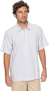 Waterman Men's Cane Island Button Down Shirt, White, L