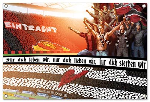 Ultras-Art Frankfurtfür Dich Leben wir Bild auf PVC Plane/PVC Banner inkl Ösen, Maße: 60x40 cm