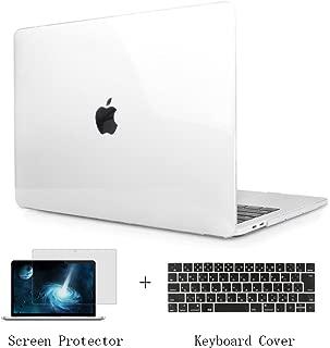 TwoL MacBook Pro 15 Touch Bar ケース クリア、3 in 1 超薄型軽量クリスタルハードケース New MacBook Pro Retina 15 2016/2017/2018/2019 (モデルA1707/A1990)対応 JISーキーボードカバー 液晶保護フィルム