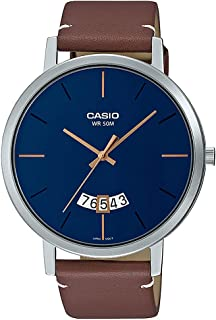 Casio Analog Blue Dial Men's Watch-MTP-B100L-2EVDF