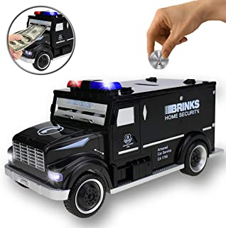 Yoego Kids Money Bank, Electronic Piggy Banks, Great Gift Toy for Kids Children, Cool Armored Car Bank Password Coin Bank, Perfect Toy Gifts for Boys Girls (Black)