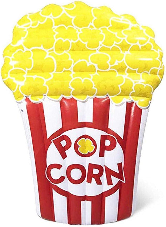 LJXWH Aufblasbarer Rettungsring des SommermodePopcorns schwimmende Reihe des Erwachsenen Popcornschwimmringes Sich hin und herbewegendes Bettlehnenraster