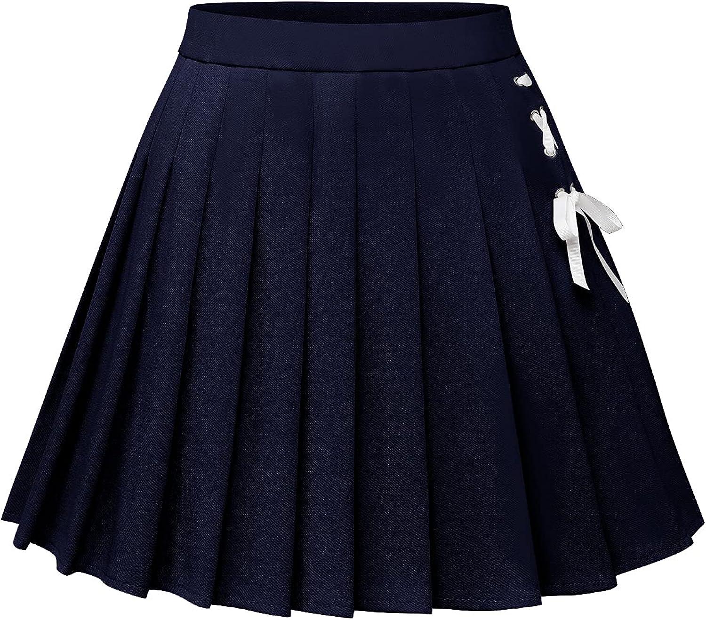 Dressystar Womens Pleated Skirts Skater Mini Basic Max 60% OFF A-Line Store Summer