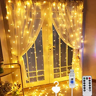 Beauenty Window Curtain String Light 300 LED 8 Lighting Modes USB Powered Waterproof Fairy String Lights Wedding Party Hom...
