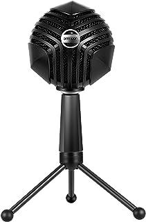 ammoonUSB コンデンサーマイク ゲームコンピュータースタジオレコーディングオンラインチャット歌う 生放送ストリーマー テレワーク web会議 ミニデスクトップ三脚付きWindows/Mac対応 GM-888