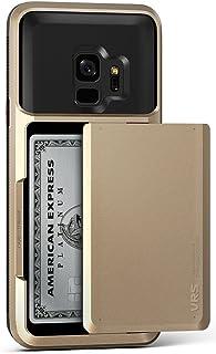 VRS DESIGN [Damda Glide Wallet Card Holder Case for Samsung Galaxy S9 Plus (Shine Gold)