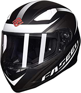 Laikeone Lightweight Full Face Motorcycle Street Bike Helmet with Drop Down Internal Sun Lens DOT/ECE Street Legal Motorbike Helmets Unisex-Adult