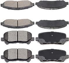 Ceramic Discs Brake Pads, SCITOO Front Rear Brake Pads fit for 07-13 Acura MDX 10-13 Acura ZDX 09-11 Honda Pilot 15-17 Hyundai Accent 15-16 Hyundai Genesis 16-17 Kia Sorento