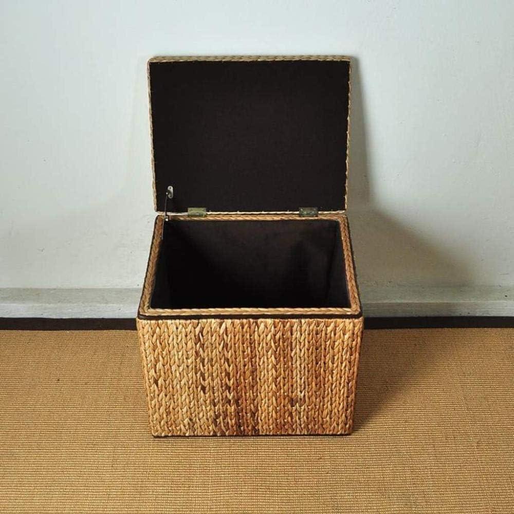 A/N Tabouret Pouf Pouf Cubique Tabouret - Pouf Carré Chaise Rangement Repose-Pieds Pastorale Rotin SièGe Casual Chaussures Banc-Une Une