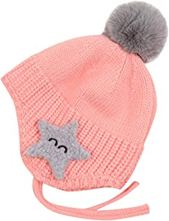 Mbby Cappellino Bimbi Orso con Orecchie 0-12 Mesi Invernale Autunno Cappello Bambini Caldo Berretto A Maglia Unisex Neonati