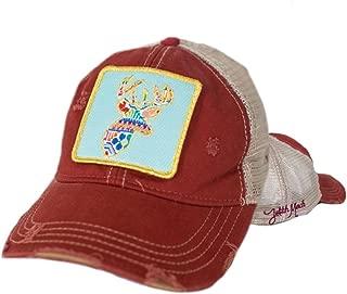 Judith March Patchwork Deer Hat Red