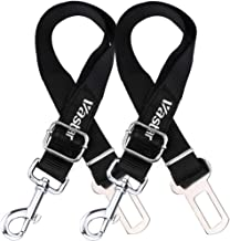 Vastar 2 Packs Adjustable Pet Dog Cat Car Seat Belt Safety Leads Vehicle Seatbelt Harness, Made from Nylon Fabric