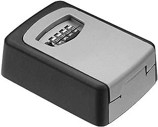 キーロックボックスウォールマウント、屋外ハウスキーカーキー用4桁コンビネーションキーセーフボックス、リセット可能コードキーセーフティストレージボックス耐候性屋内屋外マウントキット付き (銀色)