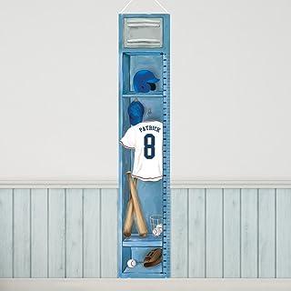 Personalized Sports Locker Growth Chart for Boys - Baseball
