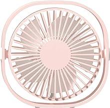 Mobestech Ventilador giratório 360 ° portátil redondo em forma de design Ventilador de 3 velocidades Mini ventilador para ...