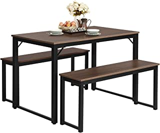 Giantex Dining Table with Bench, Modern Studio Collection...