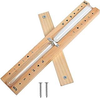 Wenxiaw Accessoires de Sauna Sabliers Minuterie de Sable pour Sauna Sablier de Sauna en Naturel avec 2 vis en Acier Inoxyd...
