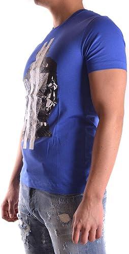 LES HOMMES Homme URC800PUC808A7719 Bleu Coton T-Shirt