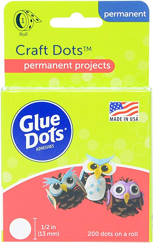 Glue Dots Craft Roll Contains 200 5 Inch Adhesive Craft Dots 08165