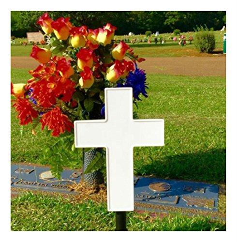 COLIBROX Solar Lighted Cross Memorial Light for Grave or Garden