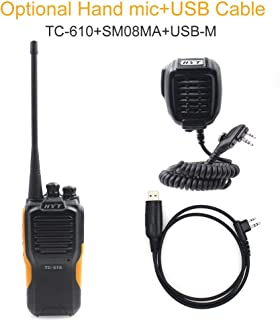 HYT TC-610 IP66 Waterproof Dustproof TC610 VHF136-174MHz Two-Way Radio with SM08M3 Microphone USB programming Cable
