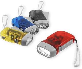 (Chromo Inc) 4 Pack Hand Crank Flashlight – New