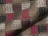 Möbelstoff Vogue 605 Kariert gemustert grau rosa, als