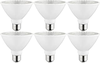 Sunlite 40980-SU LED PAR30 Short Neck Light Bulb, Dimmable, Energy Star 10 Watt, (75W Equivalent), Medium Screw (E26) Base, 6 Pack, 30K - Warm White